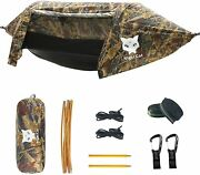 Night Cat Tent Hammock Backpacking 1 Person With Mosquito Net , Rain Fly Hiking