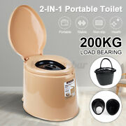 Portable Toilet Seat Travel Camping Outdoor Indoor Potty Commode Large 2