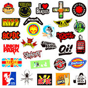 Vinyl Band Stickers 3and039and039-4and039and039 Rock N Roll Nu Metal Metallica Rammstein And More