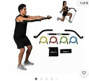 Gorilla Bow Portable Home Gym Resistance Bands And Bar System For Travel Fitnes