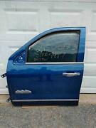 2015-2019 Gm Truck Oem Door Lh Front Driver With Glass And Regulator Blue Color