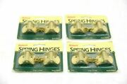 Lot Of 4. Brainerd 160xc Spring Hinges. 1 1/16 X 1 5/8, Brass Plated