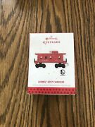 Hallmark 2013 Lionel Train 6017 Caboose Red Southern Pacific Christmas Ornament
