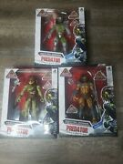 Lanard Predator Collection 7inches Action Figure, 3 Figures New In Box Sealed.