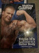 Triple H Signed Book Autograph Jsa Auto Wwe Hhh Wwf Wrestling Making The Game