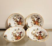 Williams Sonoma Twas The Night Before Christmas Reindeer Soup Cereal Bowls S/4