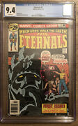 The Eternals 1 Cgc 9.4- Origin And 1st Appearance The Eternals White Pages