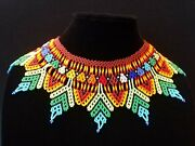 Beaded Necklace Handmade By The Indigenous People Of Colombia