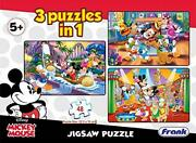 Frank Disney Mickey Mouse And Friends 3 Puzzles In 1 - A Set Of 3 48 Pc Jigsaw