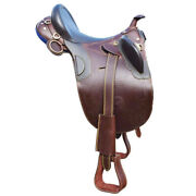 Horse Racing Saddle Full Leather Knight Ride Art Luxurious Varian