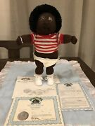 1988 Cabbage Patch Kid Baby Tyler Bo Soft Sculpture Nursery Set Double Signature