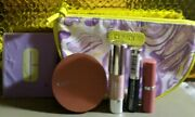Clinique 6 Piece Assorted Makeup Set With Makeup Bag And Compact Mirror