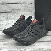 Rare Adidas Ultraboost Smu Bred Mens Size 9 Us Black Red Fy9048 Running Shoe New