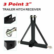 Heavy Duty 3 Point 2 Trailer Hitch Receiver Category 1 Tractor Tow Drawbar Pull