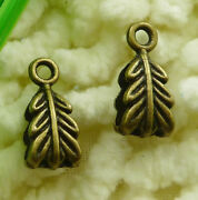 360 Pcs Bronze Plated Leaf Charms Bails 14x6mm S2114 Diy Jewelry Making