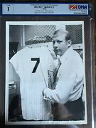 1969 Mickey Mantle Psa Type 1 Photo From Jersey Retirement Day June 8th 1969