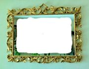 Stunning Large 48x37 19th C Antique Giltwood Carved Italian Rococo Wall Mirror