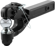 Pintle Hitch With 2 Inch Trailer Ball Fits 2 Inch Receiver 16000 Lbs N 10000 Lbs