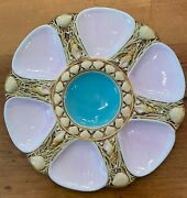 Minton Pale Pink Antique 6-well Oyster Plate 1864 Rare Color