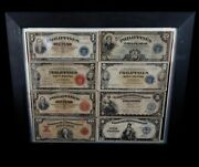 U.s. Philippines Banknotes 1,2,5 And 10 Peso Lot Of 8 Bills Total 1916-1944