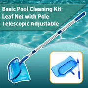 Cheap Swimming Pool Spa Cleaning Deep Net Leaf Rake Mesh Frame Skimmer With Pole