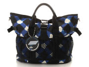 2way Tote Bag Airline 2way Blue Black Silver Fittings Nylon No.2877