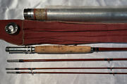 Vintage Heddon Gart Bros Deluxe 3/2 36 8andrsquo6andrdquobamboo Fly Rod Hdh Or E