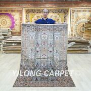 4x6ft Handmade Home Carpets Hand Knotted Bedroom Silk Area Rugs 088c