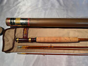 Heddon Expert Bamboo Fly Rod 3/2 125 9andrsquo 2-1/2 Dt 7 Hch Or D Excellent Plus