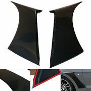 For Ford Mustang 15-20 Gt350 Style Front Side Fender Hood Vent Black Heavy Duty
