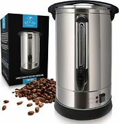 Zulay Premium Commercial Coffee Urn - Stainless Steel Large Coffee Dispenser -