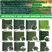 Faux Ivy Leaf Artificial Hedge Fencing Privacy Fence Screen Decor Hanging Plant