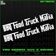 Bbq Food Mafia Food Truck Decal Sticker Trailer Business Barbeque Pit Master Bos