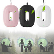 Usb Air Purifier Wearable Necklace Ionizer Car Home Smoke Cleaner Remover Anion