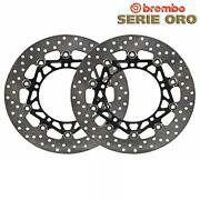 Pair Brake Discs Brembo Front Gold Yamaha 900 Xsr Abarth Abs 2016-2019