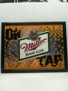 Awesome Miller High Life Beer On Tap Framed Glass Mirror Sign. Approx 22 X 17
