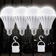 4 Pack Emergency Bulbs Rechargeable Led Light With Battery Backup, Led Ebulbs