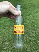 Rare Vintage 1947 Acl And Emboss Nehi Soda Bottle 7 Oz. Delta Greenwood Miss.