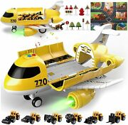 Jodudlr Toddler Toys For 3-5 Year Old Boys,big Airplane Toy 19-in-1 Educational