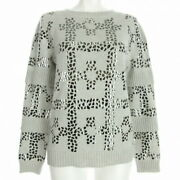 Longsleeved Sweater 36 Women And039s P57751 Light Gray Silver No.6622