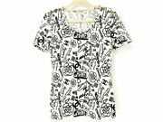 P61 19ss Multipayment Shortsleeved Top Tshirt White Black 36 No.6643