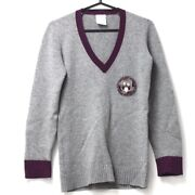 Cashmere With Patches 07a Vneck Sweater 7894 Women And039s Gray No.6578