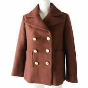 Pole Made In France P59157 Women And039s Gold Coco Mark Button Wool No.7406