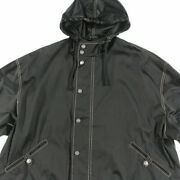 Pole Hooded Jacket Coat Black P4325 Previously Owned No.7391