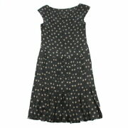Total Pattern Sleeveless Dress Black P3142 Previously Owned No.8733