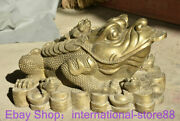 22 Rare Old Chinese Copper Feng Shui Toad Lucky Wealth Money Sculpture