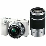 Secondhand 1-year Warranty Sony 6000 Double Zoom Kit Pz 16-50mm 55-210mm White