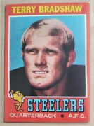 1971 Topps Terry Bradshaw Pittsburgh Steelers 156 Rc Rookie Card Clean 🔥