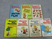 7 Dennis The Menace Fawcett Early 1970and039s Paperback Book Lot Hank Ketchum
