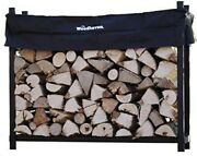 5 Foot Firewood Log Rack With Cover Wood Storage For Backyard Outdoor Fireplace